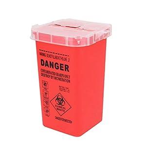 Healifty Sharps Behälter für Tattoo-Geräte und -Ausrüstung, Rot