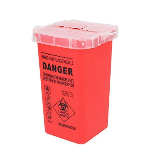 UKCOCO 2pcs Sharps Box Tattoo Nadeln Sharps Entsorgungsbehälter Tattoo Supplies und Ausrüstung (rot)