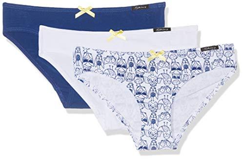 Skiny Mädchen Multipack Girls Rio Slip 3er Pack Unterhose, Mehrfarbig (owl Selection 1641), Herstellergröße:176 (erPack 3)