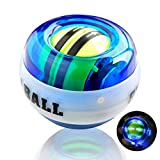Gyroscopic Forearm Wrist Exerciser Ball, Auto Start Polso Ball Force Ball Wrist Allenatore Power, LED Power Balls Toy No Batteria