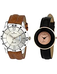 THEODORE TDM0216 Premium Leather Strap Wrist Watch For Couple