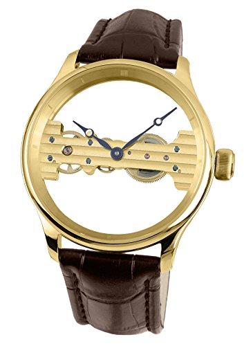 4ac47472a84b Davis 1701 – Reloj para Hombre con Esqueleto Mecánico Baguette