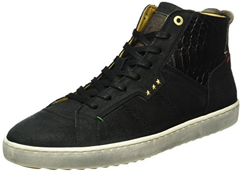 Pantofola d'Oro Canaverse Uomo Mid, Sneakers basses homme Schwarz (.25Y)