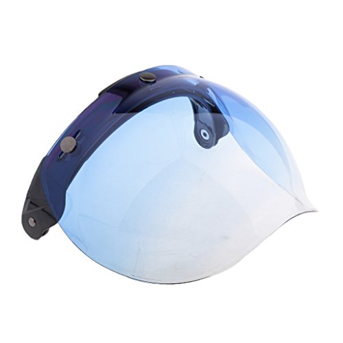 perfk 1 Stück Anti-Beschlag 3-Snap Bubble Windschild UV-Strahlenschutz Visier für Motorradhelme Schutzkleidung - 7