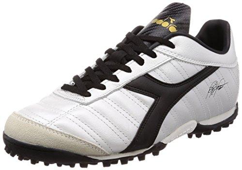 Diadora Baggio 03 Lt Tf, Scarpe da Calcetto Indoor Uomo, Multicolore (Bianco Perlato/Oro/Nero C2348), 40.5 EU