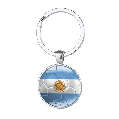nhänger mit Ländern Fahnen, Moresave 2018 Fifa WM Schlüsselanhänger Key Chains Souvenir Key Ring Geschenke (Fußball Ring)
