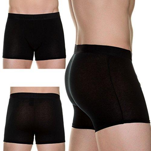 Preisvergleich Produktbild Bruno Banani Herren Boxershorts Short Flowing, 2er Pack, Einfarbig, Gr. Large, Schwarz (schwarz 1811)