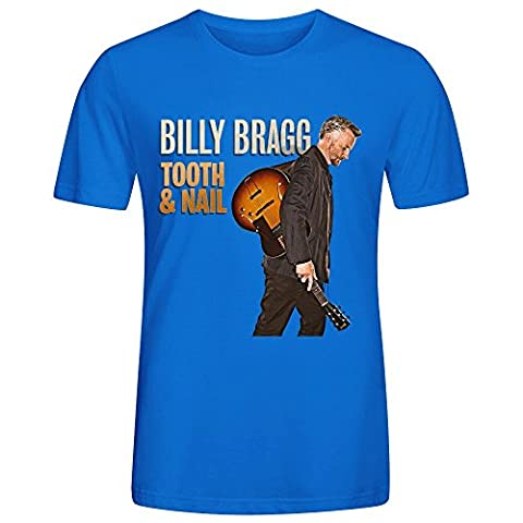 Billy Bragg Tooth Nail Homme T Shirts O Neck XX-Large