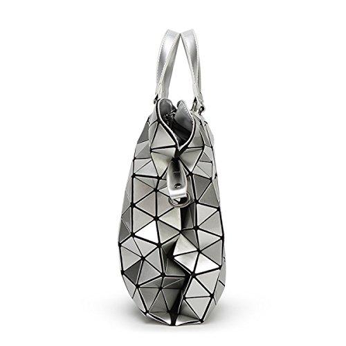Ladies Ling Grid Handtasche Falttasche Tasche Umhängetasche D