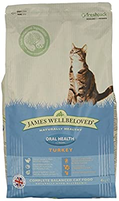 James Wellbeloved Turkey and Rice Oralcare Dry Cat Food 1.5g by James Wellbeloved