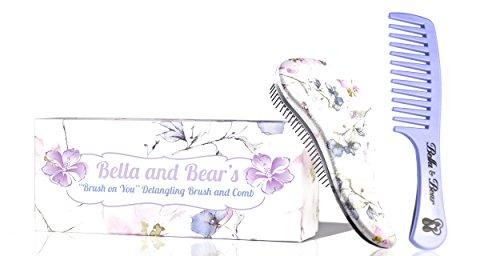 Detangler Bürste von Bella & Bear, die beste entwirrende Haarbürsten und Kamm für nasses oder trockenes Haar, ideal für Erwachsene und Kinder, keine verknoteten Haare mehr. -