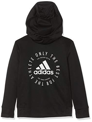 adidas Jungen Sport ID Hoodie, Black/White, 140 Athletic Mesh Pullover