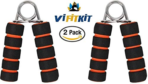 Vi FiTKiT Hand Gripper Forearm Exerciser Wrist (Two Piece) Fitness Foam Hand Grip,Hand Gripper,Grip Strength Trainers (Colour may Very)