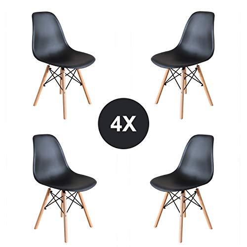Pack 4/6 sillas de Comedor Silla diseño nórdico Retro Estilo