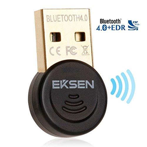EKSEN Mini Bluetooth CSR 4.0Dongle USB Adapter, Bluetooth émetteur et récepteur pour Windows 10/8.1/8/7/Vista-Plug and Play on Win 7et au-Dessus-Noir