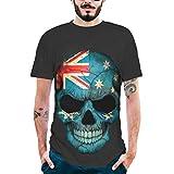 Herren Shirts Oversize UFODB Männer T-Shirt Pullover Sweatjacke Sweatshirt Jacke Rundhals 3D Printing Skull Shirt Slim Fit Kurzarmshirt Muskelshirt Blusenshirt Tops