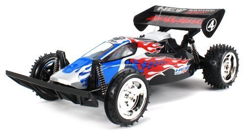 Flaming Skull Raider Electric RC Buggy Big Size 1:10 Scale Off Road Ready To Run RTR High Performance, Front Wheel Independent and Hinged Rear Suspension (Colors May Vary) by Velocity Toys
