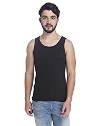 Jack & Jones Mens Cotton Vest (5713445120909_1842522009_XL_Black)