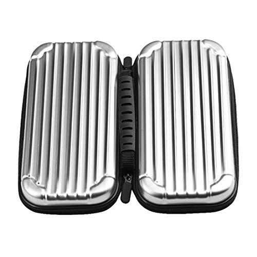 Étui de protection rigide pour sac de transport Étui de transport portable pour organiseur de voyage compatible avec commutateur Nintendo - Argent