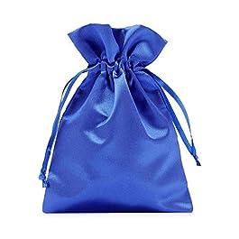 12 sacchetti in raso con cordoncino per la chiusura, misura 23×15 cm, sacchetto di raso, elegante involucro per regali…
