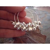 ✿ Orecchini tribali BOHO GYPSY HOOP - orecchini con campane ✿