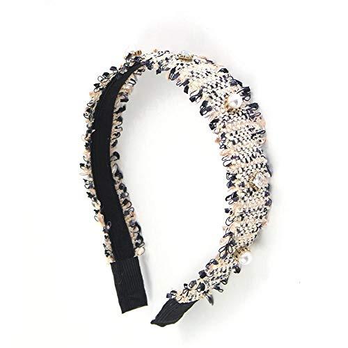Haarreife Sackleinen Kunst Breite Haarnadel Stirnband Breitkrempige Baumwolle Stirnband Urlaub Stirnband Haarnadel Weiß