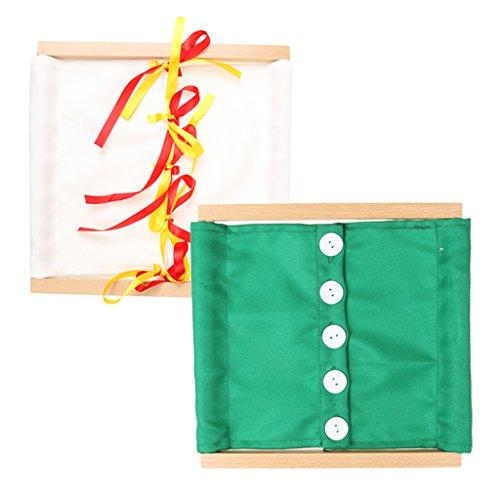 LOVIVER Montessori Schleife Zum Binden Und Knöpfen Als Rahmen Für Die Praktische -