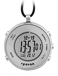 Reloj de Bolsillo Digital Hombre Mujer Deportivos Brújula Barómetro Altímetro Termómetro
