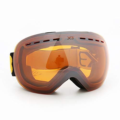 Sportsonnenbrille Ski Damen Herren Doppelschichtige Große Kugelförmige Anti Fog Skibrillen Können In Nähe Von Kurzsichtigkeit Zum Versenden Von Spiegelboxen Geliefert Werden Schwarz Orange