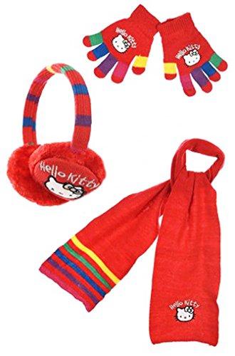 Cache Ohren + Schal + Handschuhe mehrfarbig Mädchen -