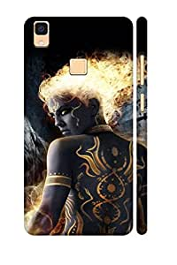 AMAN Tattoo Dreams 3D Back Cover for Vivo V3