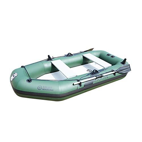 Bote De Goma - Barco De Pesca Grueso Bote Inflable Resistente Al Desgaste para 2-3 Personas En Canoa Army Green 1.75 Metros (1-2 Personas) Franja