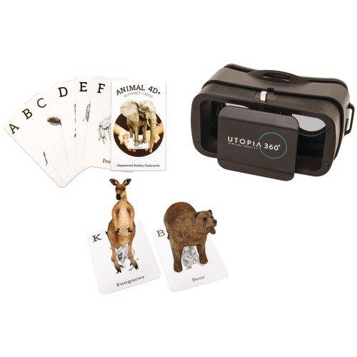 4d + Utopía 360° Animal Zoo tarjetas de realidad aumentada y VR Headset de Retrak