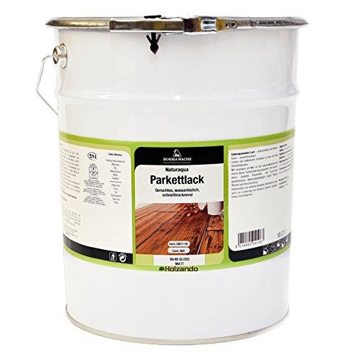 PROFI Natur Parkett- und Treppenlack auf Wasserbasis EN71-3 Zertifiziert (10 Liter, Transparent Seidenmatt 30)