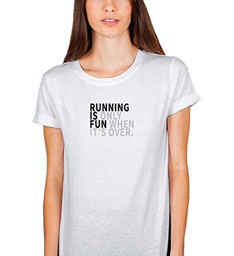 Running Is Only Fun When Its Obver Funny Quote Motivation Sport T Shirt Birthday For