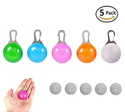 Clip-On LED Blinklicht, eBuy 5 Pcs Sicherheits LED Licht Leuchtanhänger Schlüsselanhänger 3 Blinkmodis