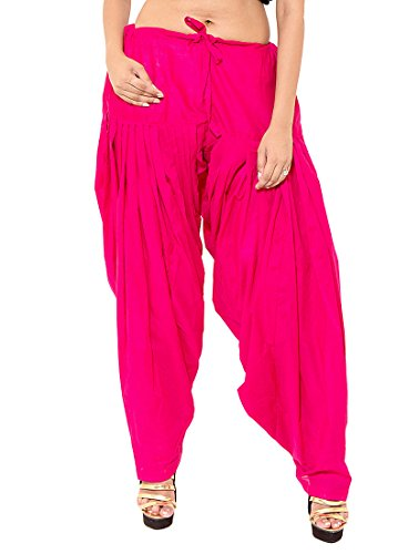 K\'s Creations Women\'s Patiala Bottoms(PATIYALARANI _Pink_Free Size)
