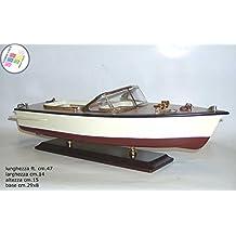 Lancha Época de Madera cm.50 Boat Casco Maqueta de Barco Velero
