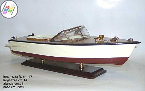 Fabrisuber since 1977 motoscafo d'epoca in legno cm.47 barca boat scafo modellino