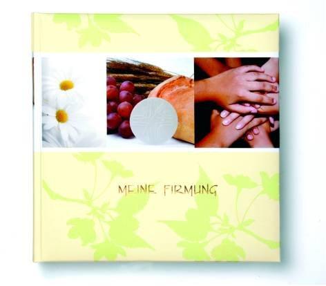 Preisvergleich Produktbild Fotobuch Firmung 25X25Cm Hände creme-grün 60sOffsetdruck laminiert Liefermenge = 1