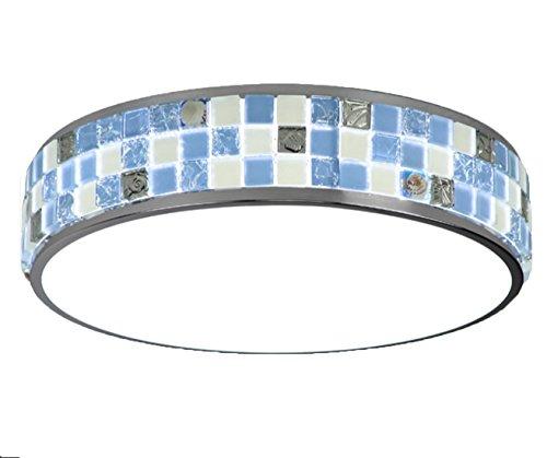 Brilliant Wandleuchte Deckenleuchte Mauritius 1-flammig E27//60W Glas//Metall blau
