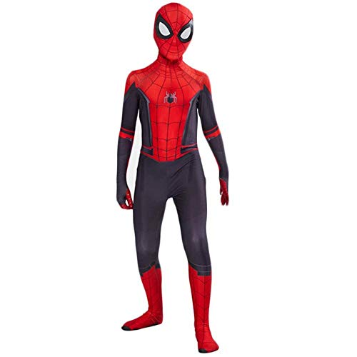 Kostüm Kleinkind Spiderman - YIWANGO Halloween Cosplay Kleinkind Kinder Spiderman Kostüm Gwen Jumpsuit Body Spider Strumpfhose Zentai Kostüm Masquerade Superhero Set,Red-XL