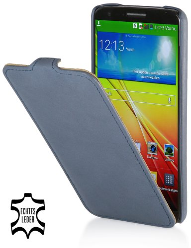 StilGut UltraSlim Case, Tasche aus Leder geeignet für LG G2, Old Style Ocean Blue (Lg G2 Phone Case)