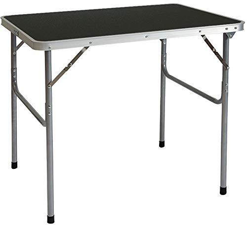 Tavoli Pieghevoli Da Mercatino.Amanka Tavolino Da Pic Nic 80x60x70cm Tavolo Da Campeggio Mercatino 3kg In Acciaio Pieghevole Formato Valigia Grigio Scuro