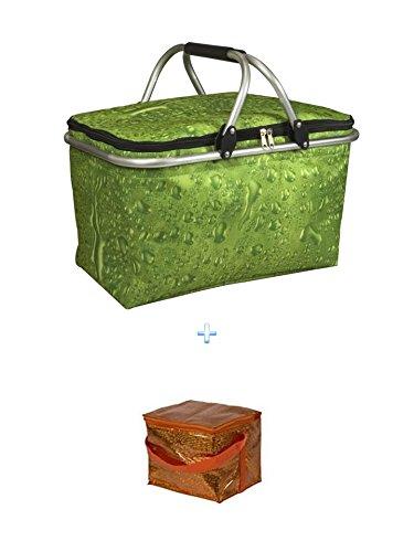 Isolierte Kühltasche G+ Kühltasche - ideal für Einkauf & Picknick Kühltasche 210x170 mm