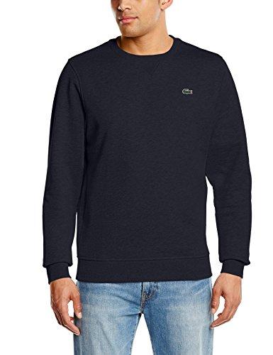 Lacoste - Sweat-Shirt - Manches Longues Homme, Bleu (Marine), Medium (Taille fabricant : 4)