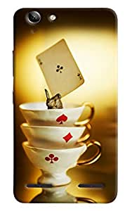 Omnam Three Cups Of Cards Game Printed Designer Back Cover Case For Lenovo Vibe K5 Plus