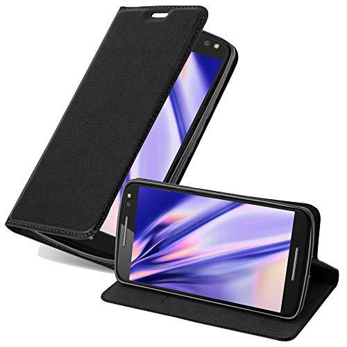Cadorabo Coque pour Motorola Moto X Style en Noir Nuit - Housse Protection avec Fermoire Magnétique, Stand Horizontal et Fente Carte - Portefeuille Etui Poche Folio Case Cover