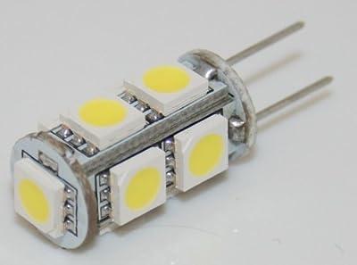 G4 9 High-Power LED [Luxyled RWW09] (90lm - Warm-Weiß - 9 x 5050 SMD LED - 360º Abstrahlwinkel - G4 Sockel - 12V DC - 1,2W - Ø11×22mm)