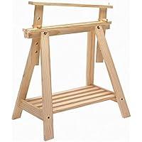ASTIGARRAGA Kit Line - Caballete Pino Archi Tec de madera, regulable altura, con estante